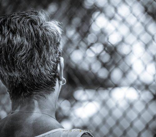 Achter het hek