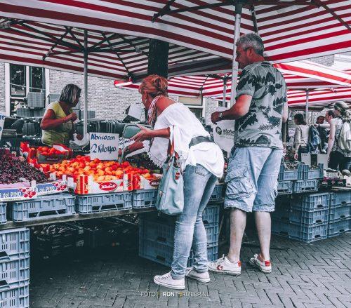 Markt groentekraam